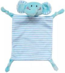 Woezy - Knuffeldoekje Bollie - Olifant - Blauw - Knuffeldoekje - Kraamcadeau - Baby - Jongen