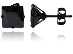 Zwarte LGT JWLS LGT Jewels Stud oorbellen Edelstaal Black Edition 8mm