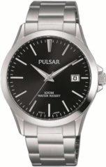 Zwarte Pulsar Herenhorloge - PS9451X1 - Zilverkleurig - 38 mm