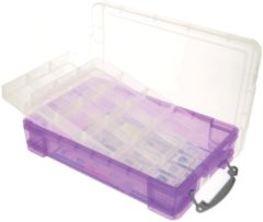 Really Useful Box opbergdoos 4 liter met 2 dividers, transparant paars
