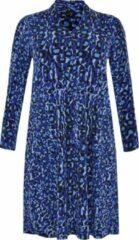 Lichtblauwe yoek jurk met dierenprint blauw