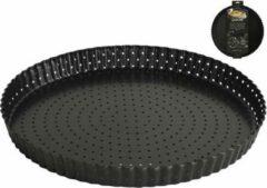 Zwarte Premium oven ware Gusta Taartvorm Geperforeerd 28cm