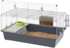 Ferplast Konijnenkooi Rabbit 100 - Dierenverblijf - 95x57x46 cm Assorti