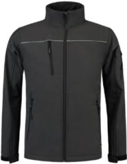 Donkergrijze TRICORP WORKWEAR Tricorp Soft Shell jack - Workwear - 402006 - Donkergrijs - maat 3XL