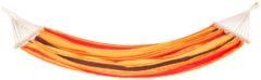 Lifetime Garden hangmat - oranje-geel - 100% katoen - met spreidstokken en metalen ringen