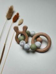 Groene Hee! Baby handmade Bijtring baby - Lief