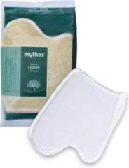 Bruine Mythos Cosmetics Mythos Loofah Scrub Handschoen met washand 3 stuks voordeelverpakking