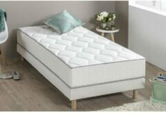 Grijze Set matras + boxspring HYVYYS 90 x 190 - Farm - 23 cm - 450 veren - DEKO DREAM