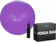 Rockerz Fitness® - Fitness bal - Yoga bal - Pilates bal - Gymbal - Zitbal - Zwangerschapsbal - 65 cm - Kleur: Paars - Beste Fitnessbal 2020