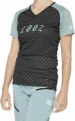 100% Dames MTB Fietsshirt Airmatic - ZwartGroen - S