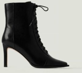 NA-KD Shoes Laarsjes Met Veters En Vierkante Neus - Black