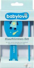 Babylove Babyborstel - Borstelset raket - Blauw - set van 2
