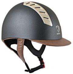 Horka Paardrijcap Arrow Carbon - Bruin - Horka