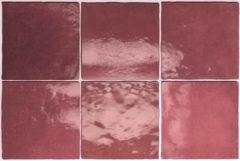 SaniGoods Wandtegel Artisan Burgundy 13,2x13,2