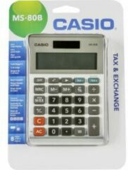 Casio MS-80B Bureaurekenmachine werkt op zonne-energie, werkt op batterijen Zilver-grijs Aantal displayposities: 8