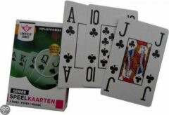 Zeldzaamgoed.nl ® 2x Senioren ( EXTRA GROTE INDEX ) speelkaarten Bridge Poker