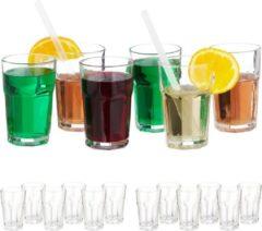 Relaxdays 18x waterglazen - 300 ml - kristallen waterglazen - drinkglazen - glazenset