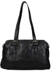 Zwarte Spikes and Sparrow Spikes & Sparrow Bronco shopper black