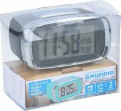 Grundig Digitale wekker/alarm klok zwart met kalender functie