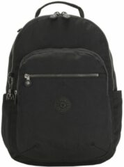 Zwarte Kipling Seoul Rugzak BE UN rich black backpack