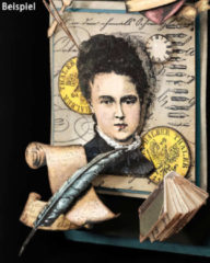 LaBlanche Home-Dekoration Stempel-Set Kalligrafie, 10tlg.