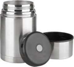 Roestvrijstalen Isosteel Rvs Voedselcontainer Dubbelwandig 0,75 Liter Zilver