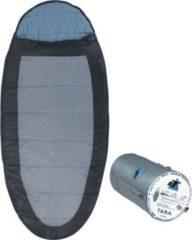10-T Outdoor Equipment 10T Schlafsack TARA -13° warm weich 1900g XXL Ei-Form Mumienschlafsack 220x100 Grau / Blau
