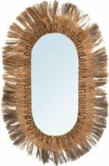 Beige Bazar Bizar De Grote Ovale Spiegel - Naturel - XL