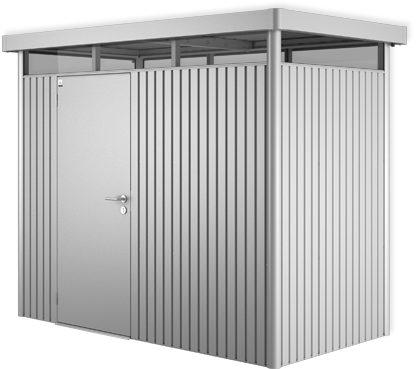Afbeelding van Zilveren Biohort Highline H1 zilver metallic 1 deurs - 275 x 155 x 222 cm