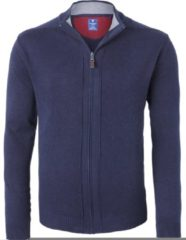 Redmond heren vest katoen - marine blauw (met rits) - Maat L