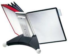 Durable Standaard voor bureaustandaard SHERPA® TABLE 10 Rood, Zwart DIN A4 Aantal meegeleverde displaypanels 10