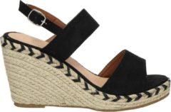 Nelson dames sandaal - Zwart - Maat 38