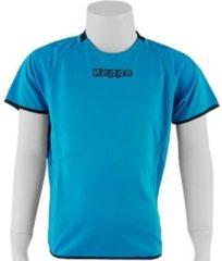 Blauwe Kappa Rounded Shirt - Sportshirt - Kinderen - Maat 116 - Blue