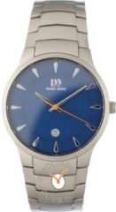 Grijze Danish Design watches titanium herenhorloge Bogø Blue Large IQ68Q1275