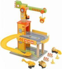 Playwood - Houten parkeergarage bouwterrein met kraan