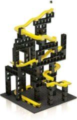 Hubelino knikkerbaan bouwset zwart/geel 99-delig