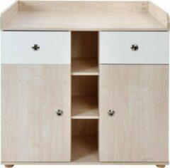 Trend24 - Commode - Verzoringstafel - Commode kasten - Aankleedtafel - Babykamer - Wit