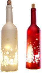 Rote LED-Flasche XMAS rot