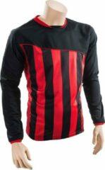 Precision voetbalshirt Precision polyester zwart/rood maat XL