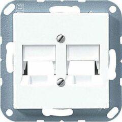 Witte Jung AS500 Outlet- / A569-2NPANDww / component schakelmateriaal voor utp kleur ww .