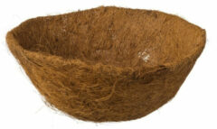 Bruine Nature 5 Stuks Kokosinlegvel Voor Hanging Basket Voorgevormd Met Waterkering Dia. 30cm