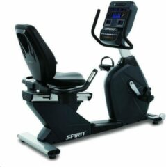 Grijze Spirit Fitness Commercial Series Recumbent Bike met LED Console CR900LED
