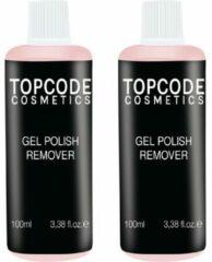 TOPCODE Cosmetics - 2x Gellak remover - 100ml - #MCRM02- roze - Voor het veilig verwijderen van gellak