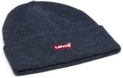 Donkerblauwe Levi's Red Batwing Embroidered Beanie