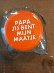 Oranje Deco Holland Rolmaat papa jij bent mijn maatje - 5M - Kado