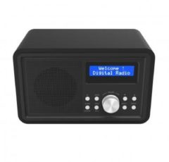 Denver Electronics DAB-35BLACK - DAB+/FM radio with wooden cabinet (black) - Denver Elect