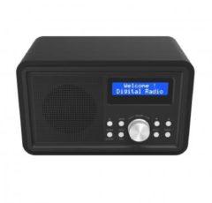 Denver Electronics DAB-35BLACK - DAB+/FM radio with wooden cabinet (black) - Denver Elect