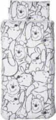 Anel Babygoods Anel Pooh Fresh Mint - Ledikant dekbedovertrek met kussensloop - 100x135 cm - Wit/Mintgroen