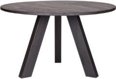 WOOOD Rhonda eettafel Ø 129 cm eiken blacknight gelakt Blacknight