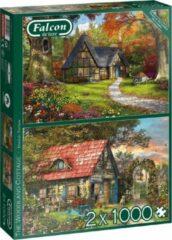Falcon Legpuzzel 'the Woodland Cottage' 2x1000 Stukjes
